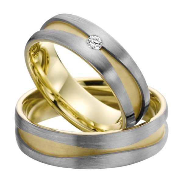 Eheringe - Gold - mit Diamant - R707-0