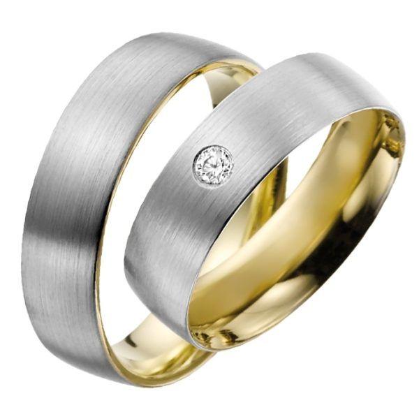 Rubin - Trauringe - Gold - Diamanten - R708
