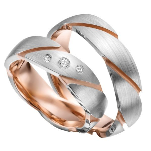Eheringe - Gold - mit Diamanten - R709-0