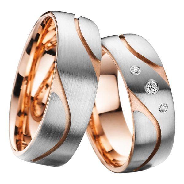 Eheringe - Gold - mit Diamanten - R712-0