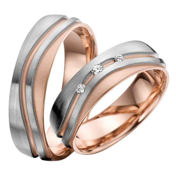 Eheringe - Gold - mit Diamanten - R714-0