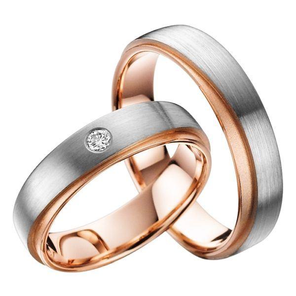 Eheringe - Gold - mit Diamant - R718-0