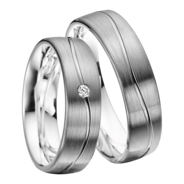 Rubin - Trauringe - Palladiumstar - Diamanten - R904