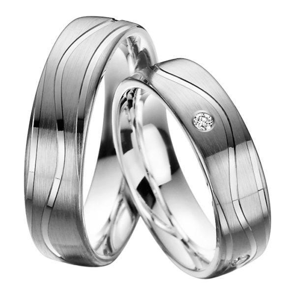 Rubin - Trauringe - Palladiumstar - Diamanten - R905
