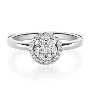 Verlobungsring mit Diamanten - Illusion - Modern-0