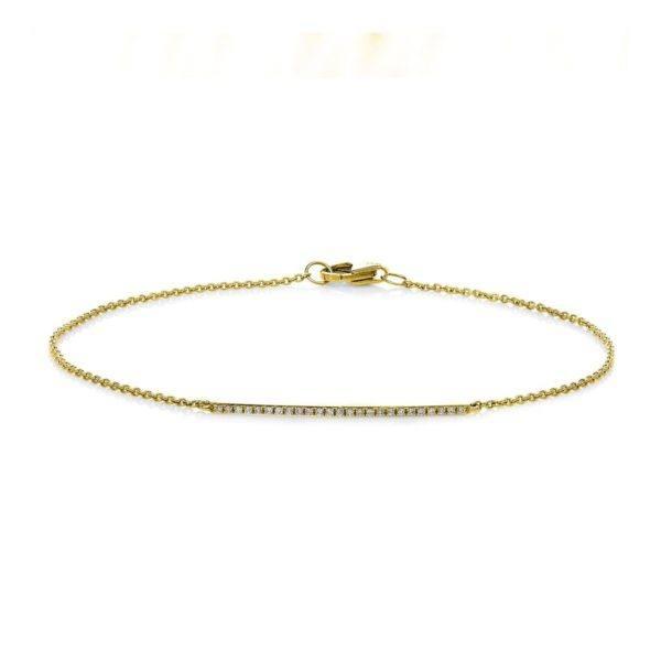 Armband in Weißgold mit einem Brillant in Zargenfassung (0,03 ct. tw/si)