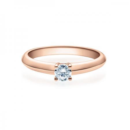 Verlobungsring mit Diamant - 4er-Krappenfassung - Rubin - 18004