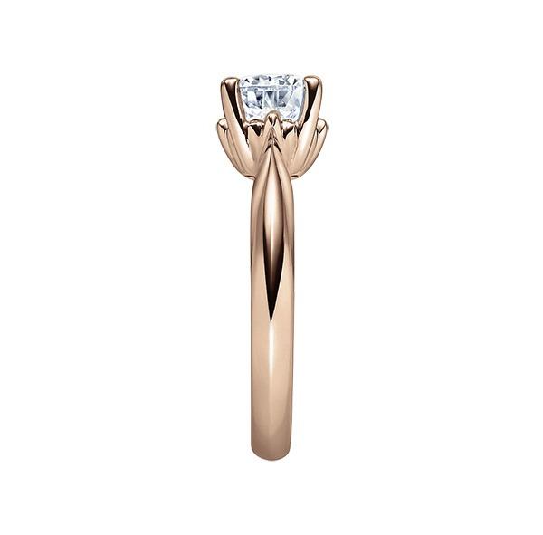 Verlobungsring mit Diamant - 4er-Krappenfassung - Rosegold- Modern-20140