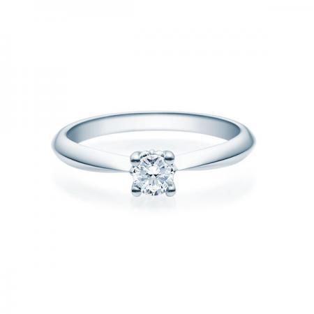 Verlobungsring mit Diamant - 4er-Krappenfassung - Rubin - 18009