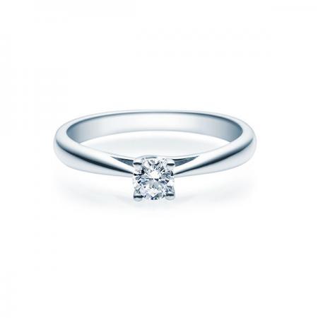 Verlobungsring mit Diamant - 4er-Krappenfassung - Rubin - 18002