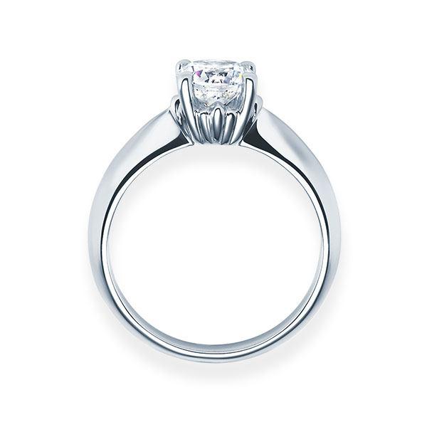 Verlobungsring mit Diamant - 4er-Krappenfassung - Modern-20153