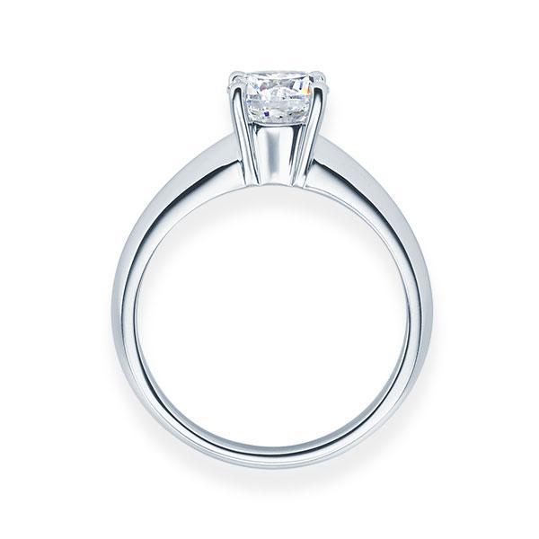 Verlobungsring mit Diamant - 4er-Krappenfassung - Klassisch-20173