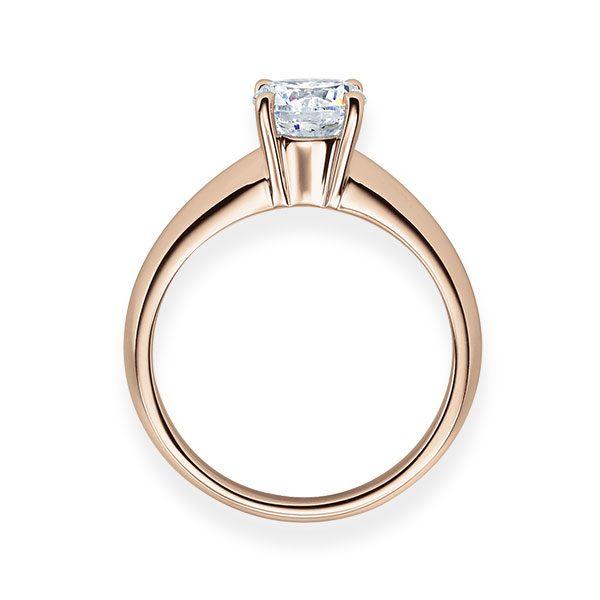 Verlobungsring mit Diamant - 4er-Krappenfassung - Klassisch-20163
