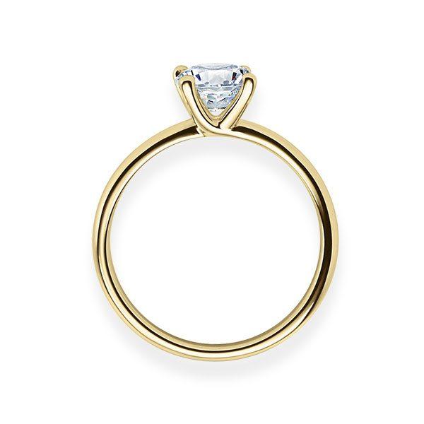 Verlobungsring mit Diamant - 4er-Krappenfassung - Modern-20184