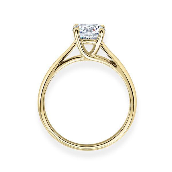 Verlobungsring mit Diamant - 4er-Krappenfassung - Klassisch-20203