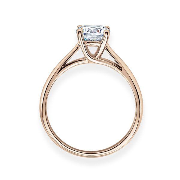 Verlobungsring mit Diamant - 4er-Krappenfassung - Klassisch-20205