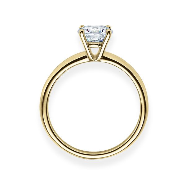 Verlobungsring mit Diamant - 4er-Krappenfassung - Klassisch-20222