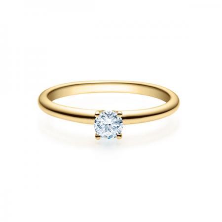 Verlobungsring mit Diamant - 4er-Krappenfassung - Rubin - 18018
