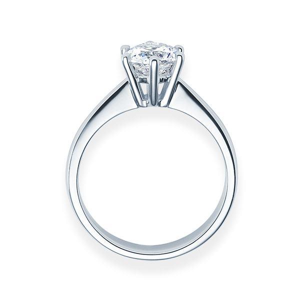 Verlobungsring mit Diamant - 6er-Krappenfassung - Klassisch-20657