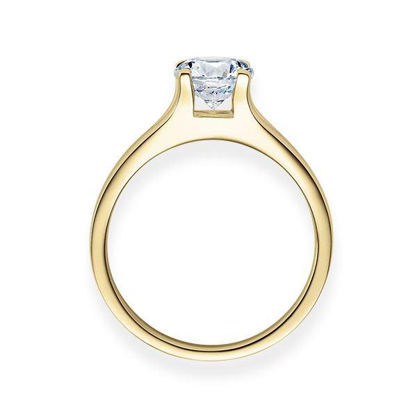 Verlobungsring mit Diamant - 4er-Krappenfassung - Modern-20249