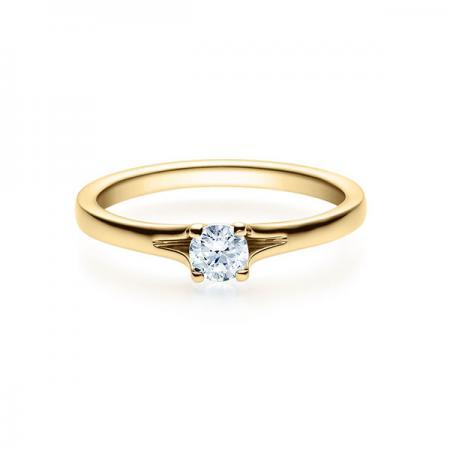 Verlobungsring mit Diamant - 4er-Krappenfassung - Modern