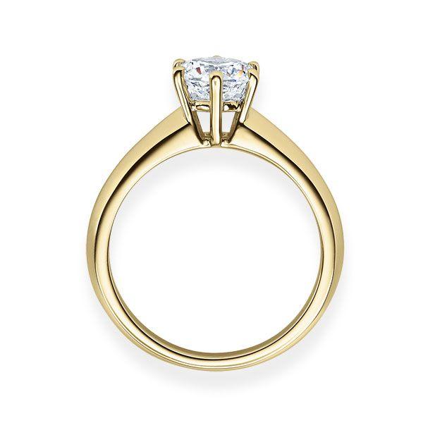 Verlobungsring mit Diamant - 6er-Krappenfassung - Klassisch-20527