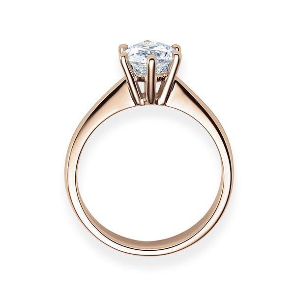 Verlobungsring mit Diamant - 6er-Krappenfassung - Klassisch-20547