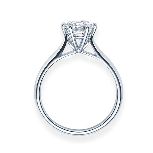 Verlobungsring mit Diamant - 6er-Krappenfassung - Klassisch-20543