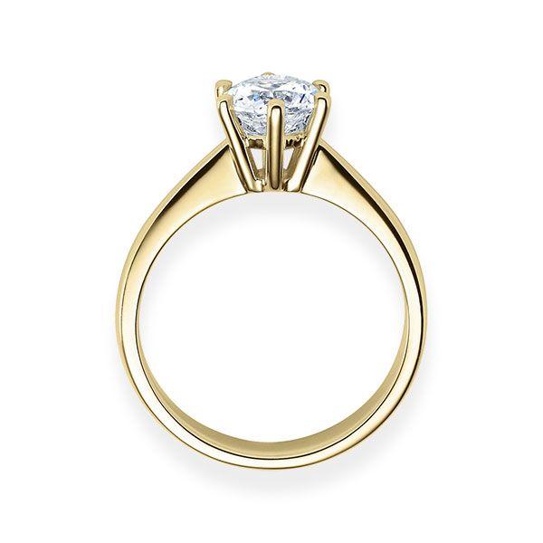 Verlobungsring mit Diamant - 6er-Krappenfassung - Klassisch-20551