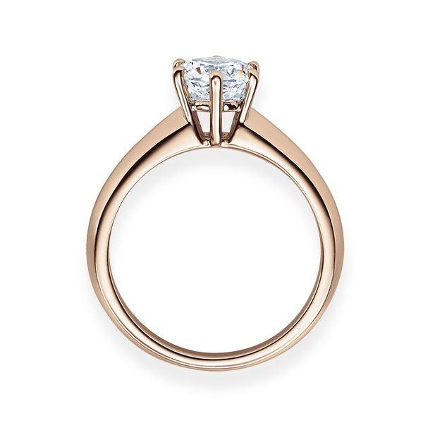 Verlobungsring mit Diamant - 6er-Krappenfassung - Klassisch-20523