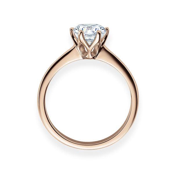 Verlobungsring mit Diamant - 6er-Krappenfassung - Klassisch-20561