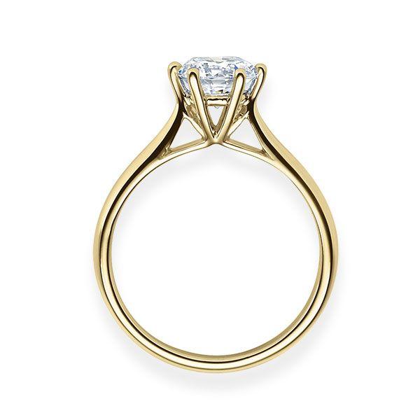 Verlobungsring mit Diamant - 6er-Krappenfassung - Klassisch-20539