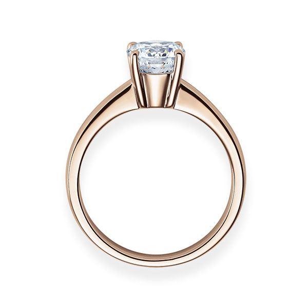 Verlobungsring mit Diamant - 4er-Krappenfassung - Klassisch-20257