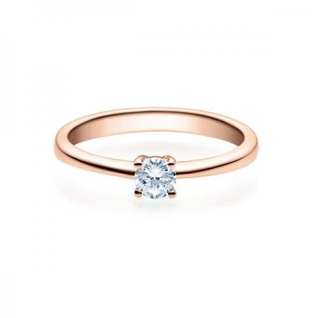 Verlobungsring mit Diamant - 4er-Krappenfassung - Rubin - 18008