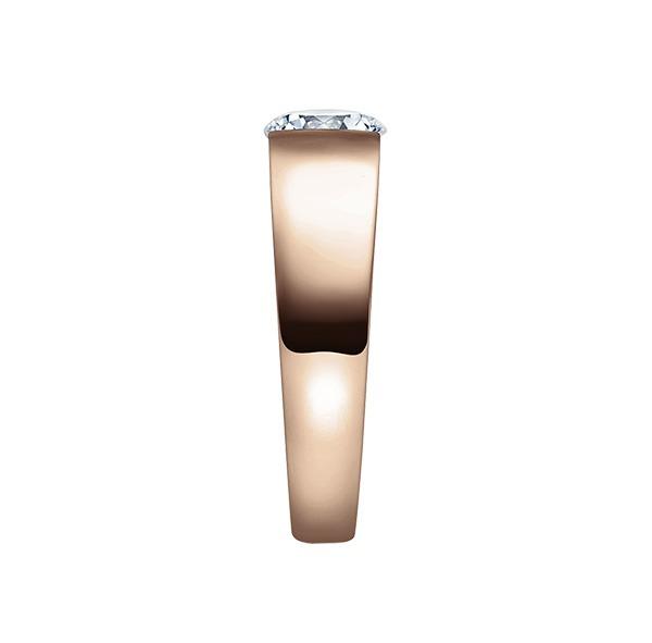 Verlobungsring mit Diamant - Spannfassung - Rosegold - Modern-20607