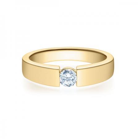 Verlobungsring mit Diamant - Spannfassung - Rubin - 18012