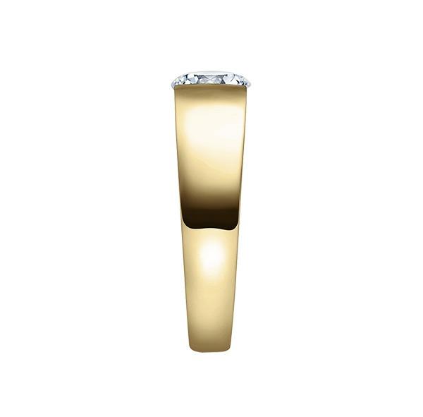Verlobungsring mit Diamant - Spannfassung - Gelbgold- Modern-20616
