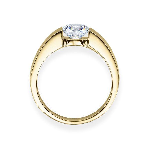 Verlobungsring mit Diamant - Spannfassung - Gelbgold- Modern-20615