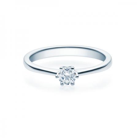 Verlobungsring mit Diamant - 6er-Krappenfassung - Klassisch