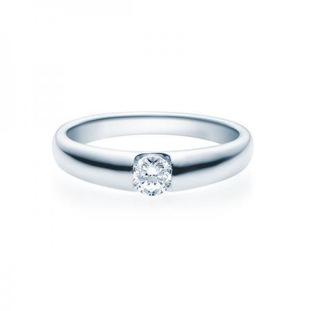Verlobungsring mit Diamant - Spannfassung - Rubin - 18005