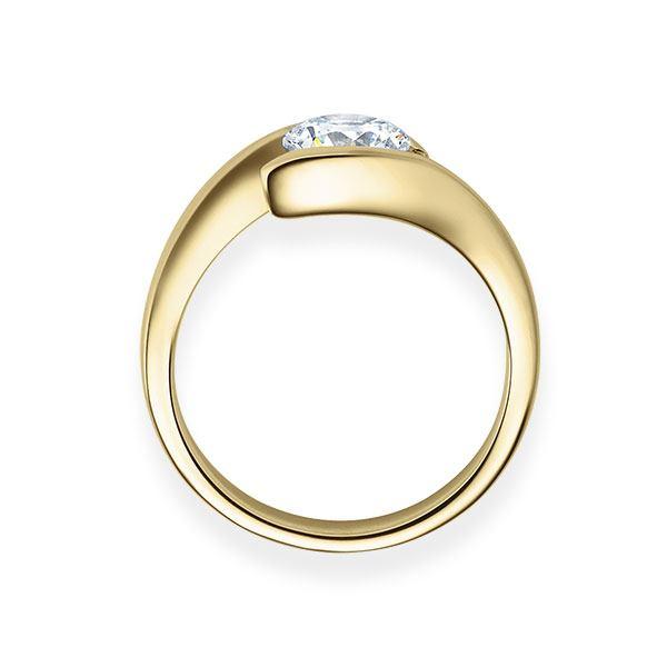 Verlobungsring mit Diamant - Geschwungene Spannfassung - Modern-20368