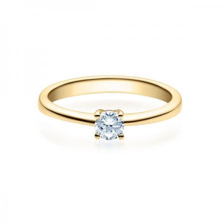 Verlobungsring mit Diamant - 4er-Krappenfassung - Klassisch