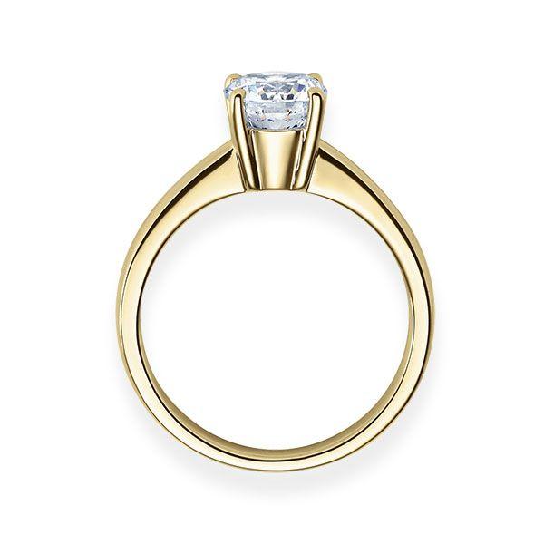 Verlobungsring mit Diamant - 4er-Krappenfassung - Klassisch-20261