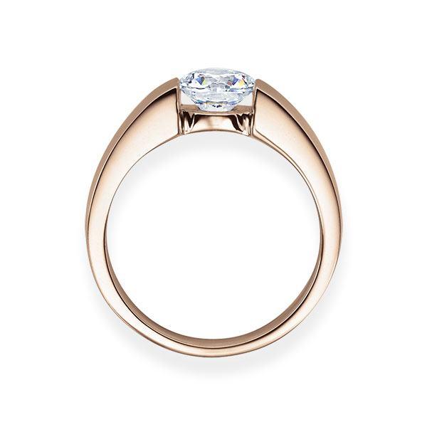 Verlobungsring mit Diamant - Spannfassung - Rosegold - Modern-20606