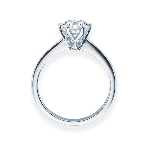 Verlobungsring mit Diamant - 6er-Krappenfassung - Klassisch-20573