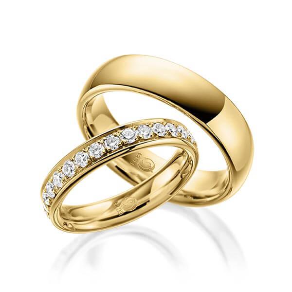 Rubin - Trauringe - Design - RU-1054-1 Gelbgold-Rosegold