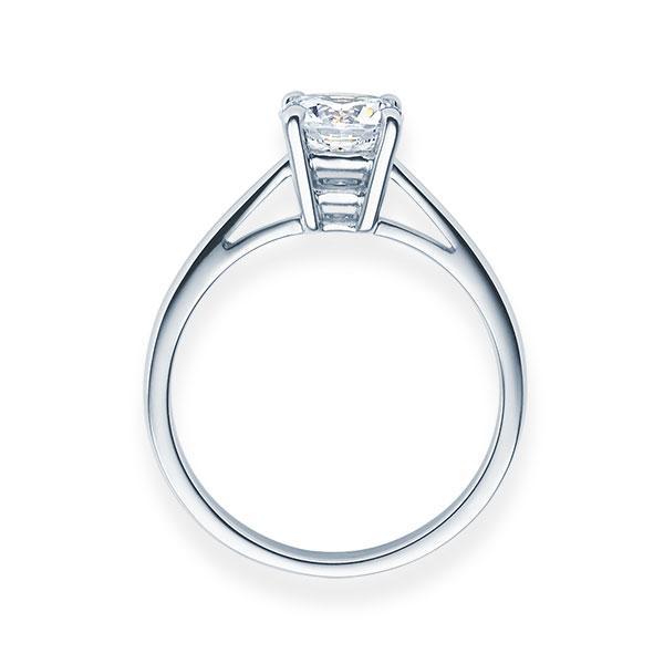 Verlobungsring mit Diamant - 4er-Krappenfassung - Klassisch-20506
