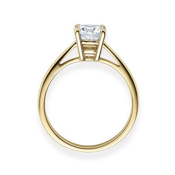 Verlobungsring mit Diamant - 4er-Krappenfassung - Klassisch-20515