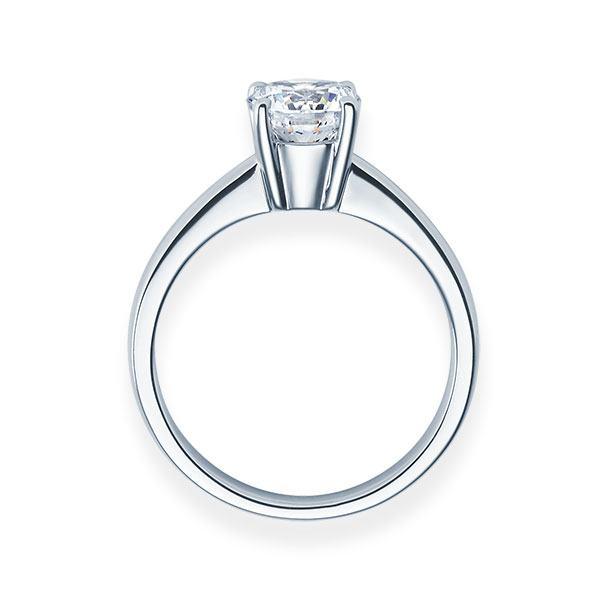 Verlobungsring mit Diamant - 4er-Krappenfassung - Klassisch-20265