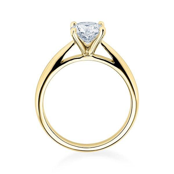Verlobungsring Gelbgold 585/- zus. 0.200 ct. tw si - RU-1570-16